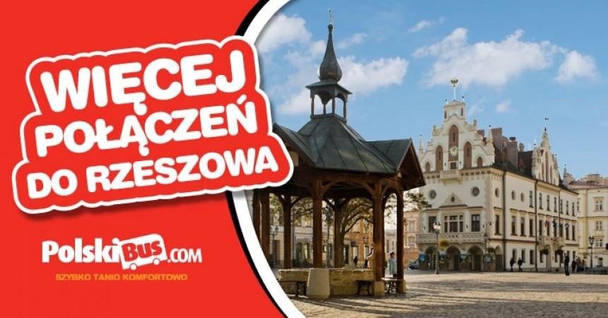 PolskiBus.com wprowadza połączenia non stop z Warszawy do Rzeszowa