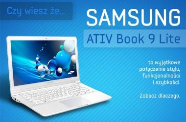 Samsung ATIV Book 9 Lite – lekki i stylowy towarzysz podróży