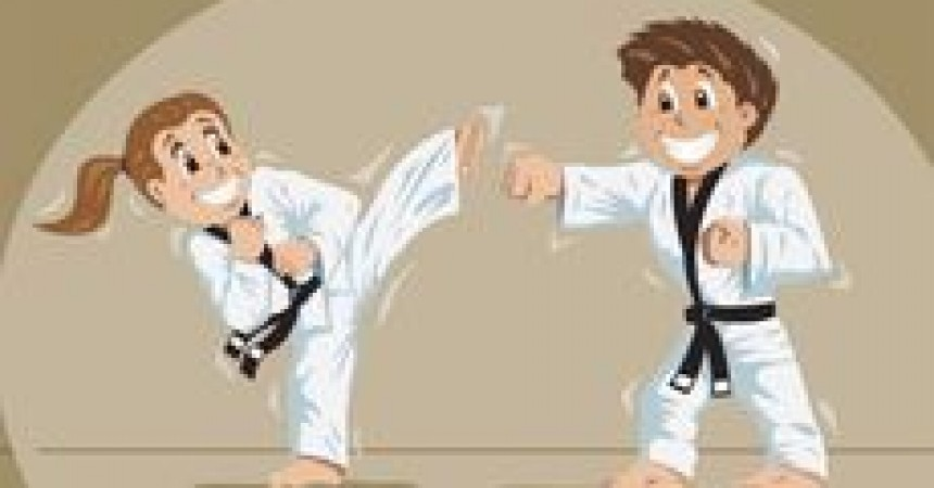 Przedszkolne zabawy z elementami karate