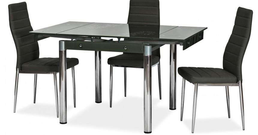 Krzesło z ekoskóry i stali chromowanej