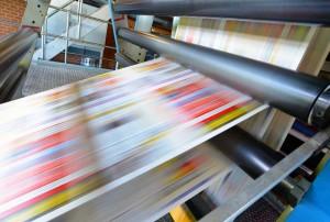 Druckmaschine fr Tageszeitung // printing machine