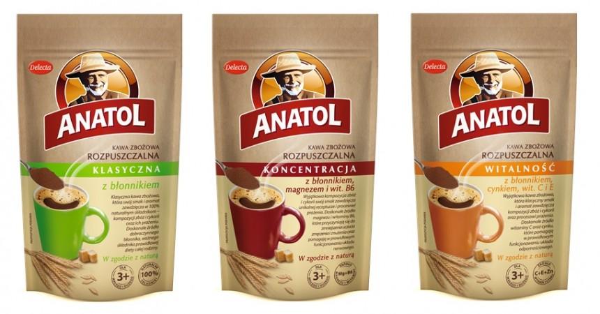 Anatol z błonnikiem i witaminami – funkcjonalna kawa zbożowa od Delecty