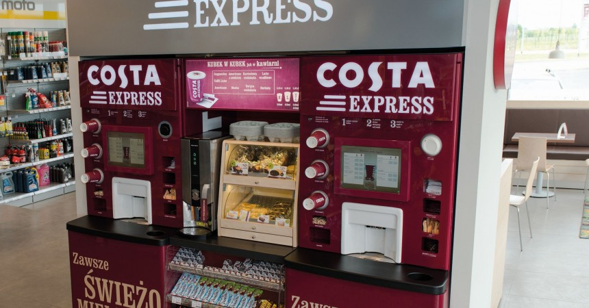 Costa Express na stacjach LOTOS  Letnie testy gorącej kawy