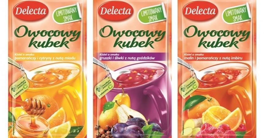 Nowe rozgrzewające smaki Owocowych kubków Delecta