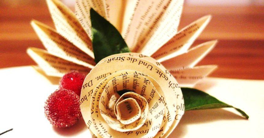 Książka do kwiatka na walentynki
