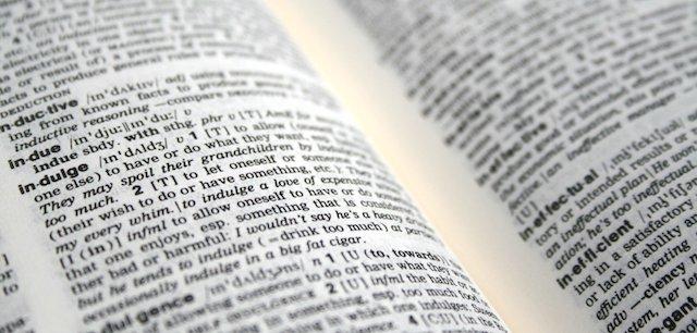 treść w słowniku
