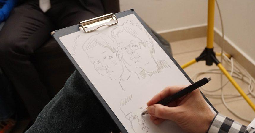 Atrakcje na wesele: znakomity karykaturzysta